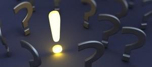вопросы и воскл знак